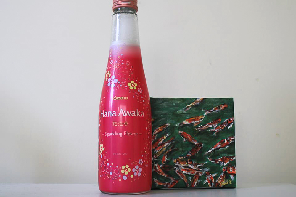 Ozeki Hana Awaka sparkling flower sake.